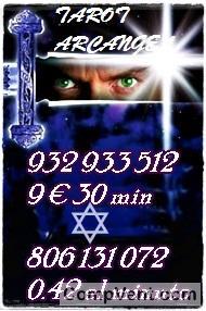 TAROT  ECONOMICO 9 EUROS 30 MINUTOS VISAS   932-933-512