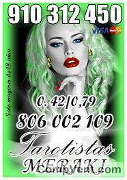 OFERTAS TODA VISA 5 € 15 min. 7€ 20 min. 9€ 30min 14€ 45min TAROT Y VIDENCIA 910312450/ 8060
