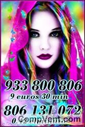TAROT  ECONOMICO 9 EUROS 35 MINUTOS VISAS   932-933-512