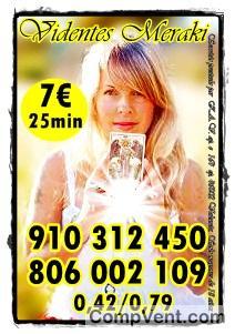 LAS MEJORES TAROTISTAS EXPERTAS Y FIABLES VISA 9€ 35min. 910 312 450 /806 002 109