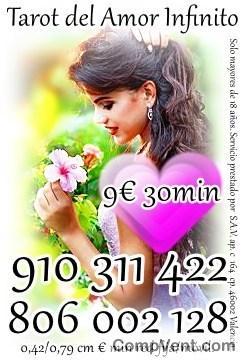 tu mereces lo mejor-  4€ 15 min/ 6 € 20min/9€ 30min /12€ 45min. .tarot del amor infinito 910