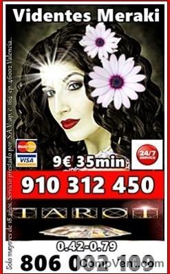 La Mejor Oferta Tarot Visa 910312450 VISA desde 4 € 15 min. 9€ 35min / 806 002 109