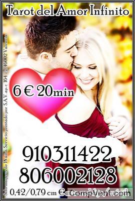 CLARA Y DIRECTAS EN CONSULTAS DE AMOR 910311422- 806002128 OFERTAS TODA VISA 4€ 15min
