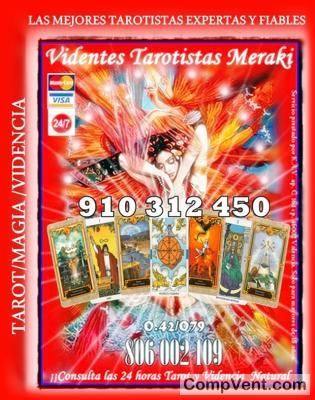 VIDENTES Y TAROTISTAS MERAKI VISAS 9 € 35 MIN -4 €15 MIN -12€ 45 – 15 € 55 – 17€ 70MIN