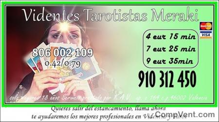 EL TAROT QUE ESPERABAS, DIRECTO Y FIABLE VIDENCIA NATURAL MERAKI visa 9€ 30 min. 910312450 / 806 0