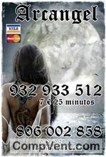 Tarot visa económico 5 euros 17 mtos. 806-131-072 solo 0,42cm