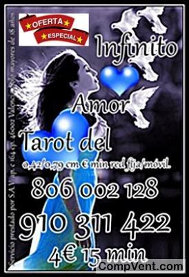 """Precisa y Directa al """"Interpretar las cartas del amor"""" VIDENTE Y TAROTISTA 910 311 422 / 806 002"""