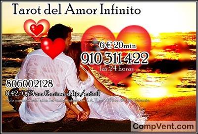 TAROT DEL AMOR INFINITO LAS 24 HORAS 910311422 / 806002128 0,42/0,79 cm € min red fija/móvil EL T