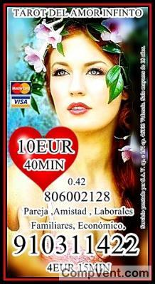 VISA 6 € 20min DESPEJA TUS DUDAS EN EL AMOR 910311 422 -806 002 128