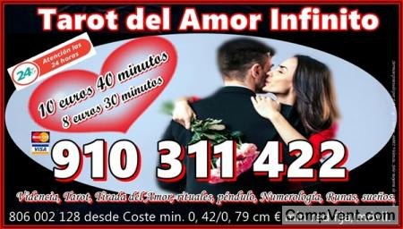 OFERTAS EN TAROT DEL AMOR INFINITO 4 € 15 min/ 6 € 20min/9€ 30min/ 12€ 45mi   910311422
